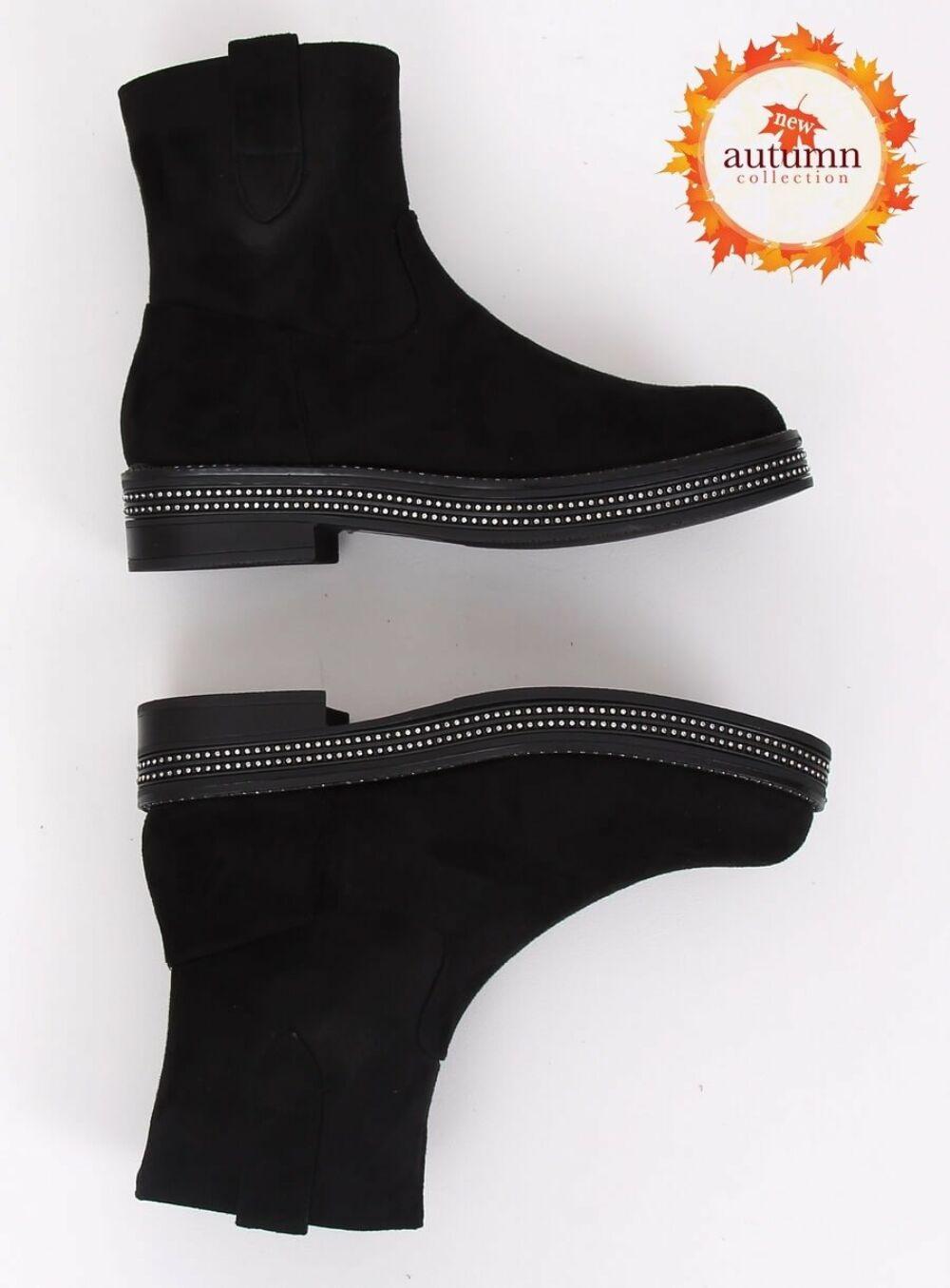 Női bokacsizma (CH1812-2), fekete