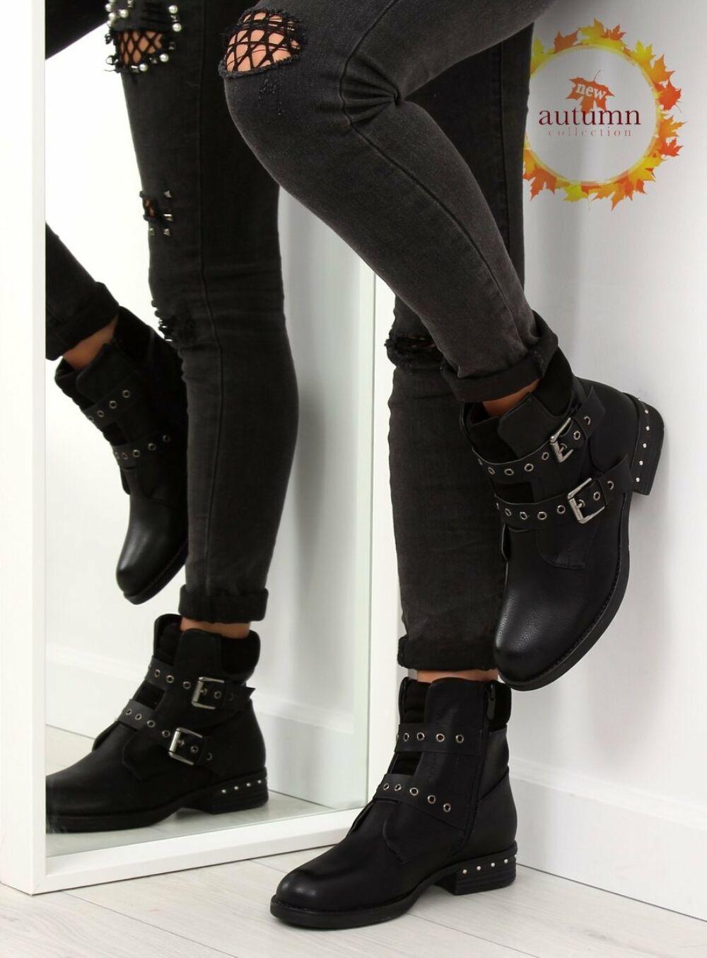 Női bokacsizma (S165), fekete