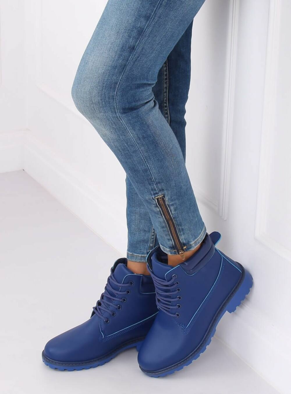 Női bokacsizma (W-3033), kék