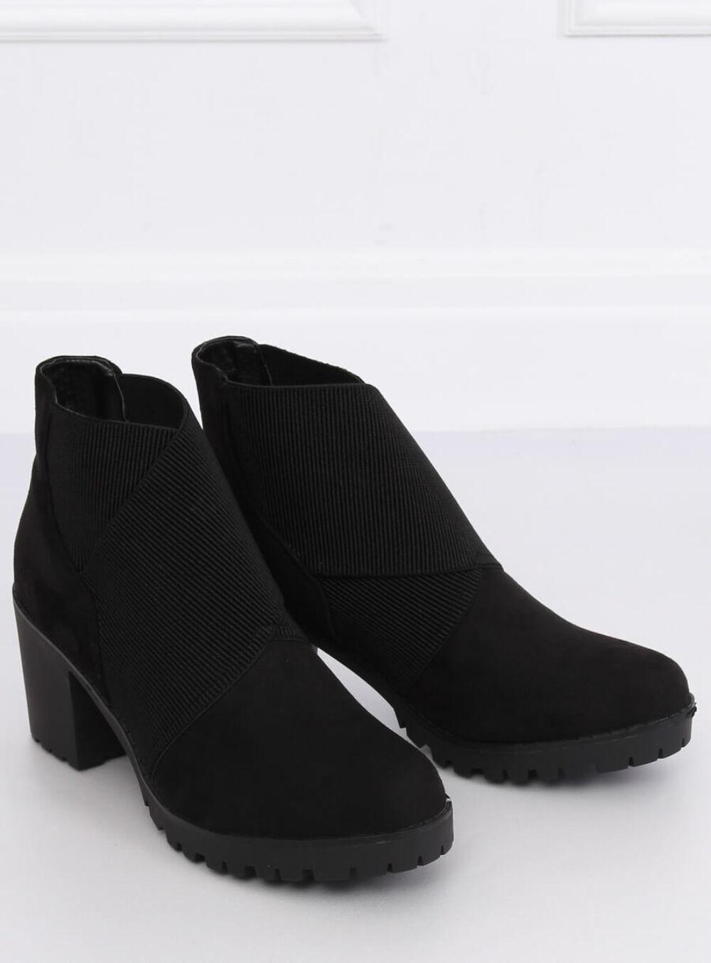 Női műbőr bokacsizma (BH151-KB), fekete