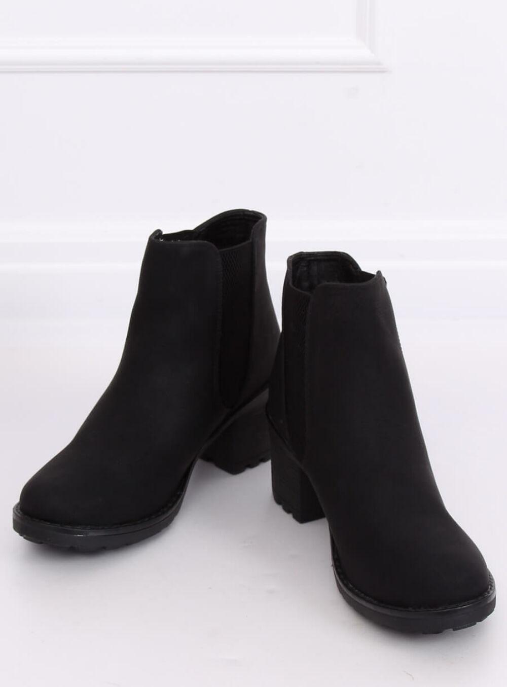 Női műbőr bokacsizma (L2065), fekete
