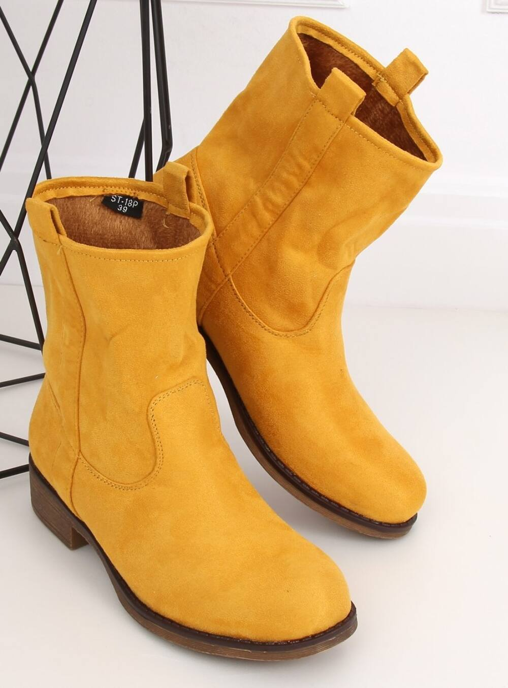 Női bokacsizma (ST-18P), sárga