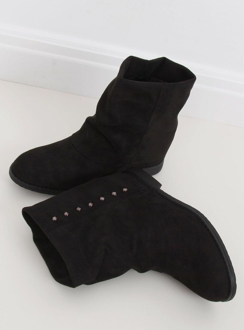 Női bokacsizma (ST-03P), fekete