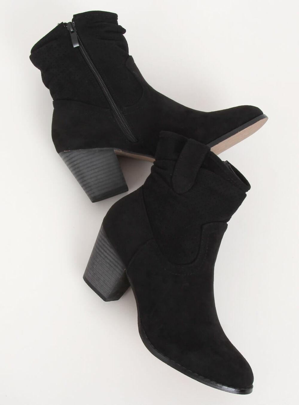 Női műbőr bokacsizma (100-987B0-2), fekete
