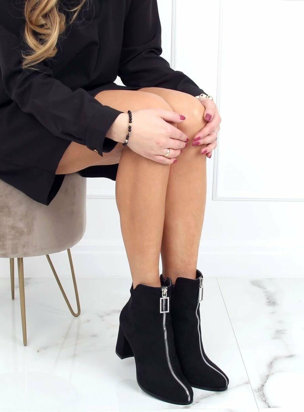 Női műbőr bokacsizma (0-320), fekete