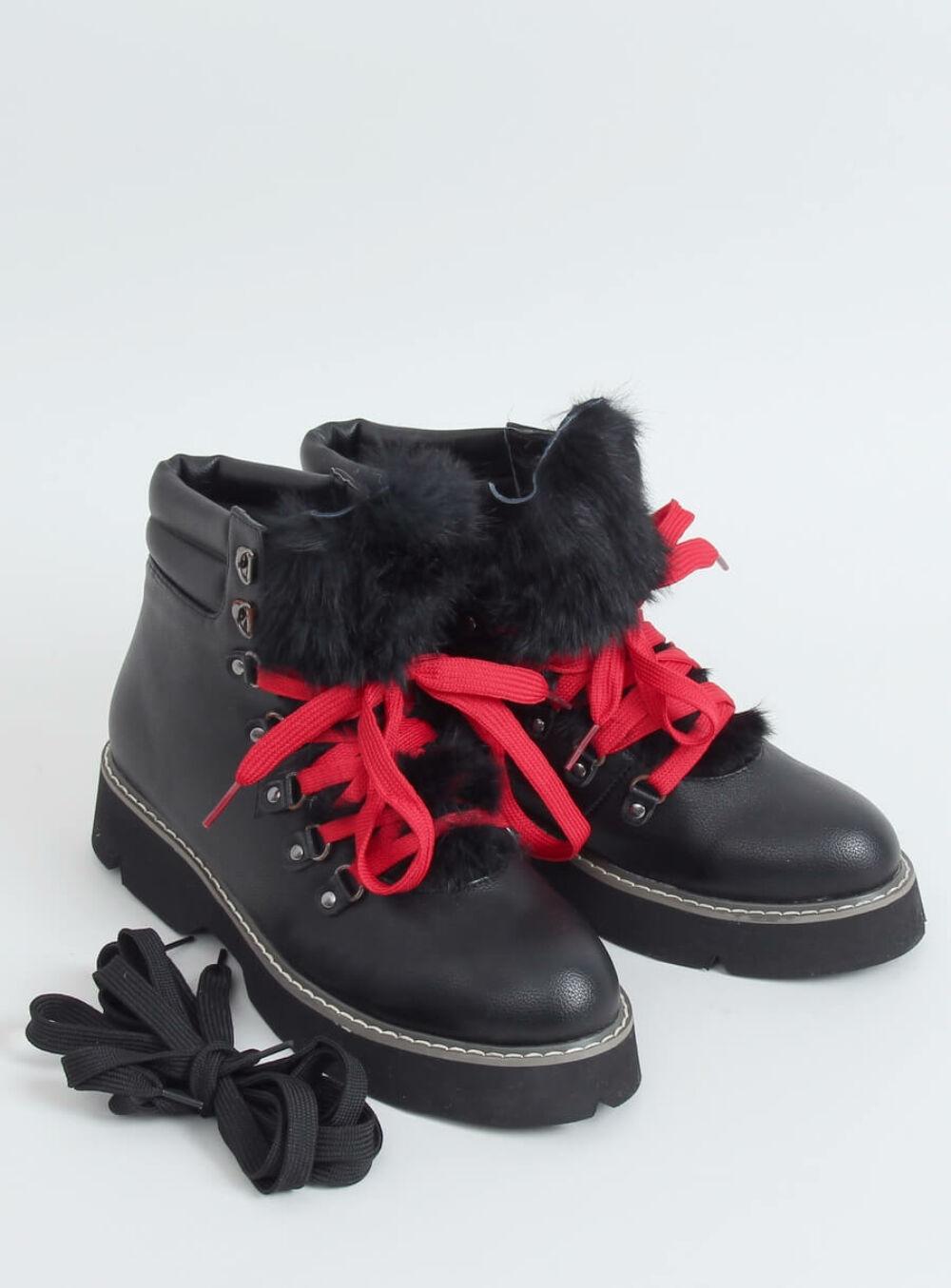 Női bokacsizma (3142), fekete