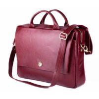 Felice női laptoptáska bőrből FL14 burgundy