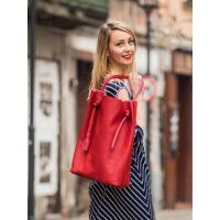Look Paris női bevásárlótáska bőrből piros