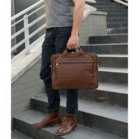 McKlein Bridgeport férfi bőr laptop táska barna