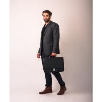McKlein Lexington férfi bőr laptop táska fekete