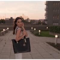 McKlein Savarna bőr laptop táska fekete