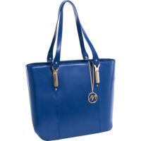 McKlein Savarna Navy bőr laptop táska