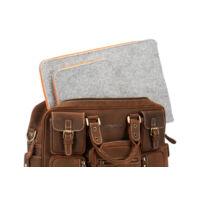 Vooc üzleti aktatáska bőrből XC1 barna + EPD1 laptoptartó