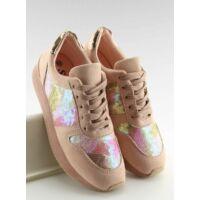 Női műbőr utcai sportos cipő (LH10P), rózsaszín