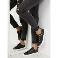 Női műbőr utcai sportos cipő (BL122p), fekete