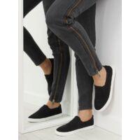 Női vászon utcai sportos cipő (BL126P), fekete