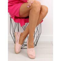 Női szövet szandál (BB15P), rózsaszín, lapos talpú