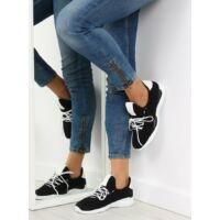 Női szövet utcai sportos cipő (BK367), fekete