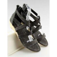 Női utcai sportos cipő (ME11783), fekete, lapos talpú