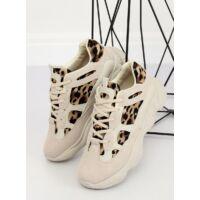 Női műbőr utcai sportos cipő (M-020), bézs
