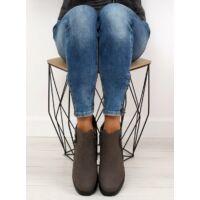 Női műbőr utcai sportos cipő (SJ657), szürke