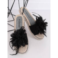 Női papucs, strandpapucs (CK131P), fekete