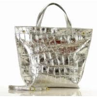 MAZZINI Női bevásárlótáska (s222a), ezüst