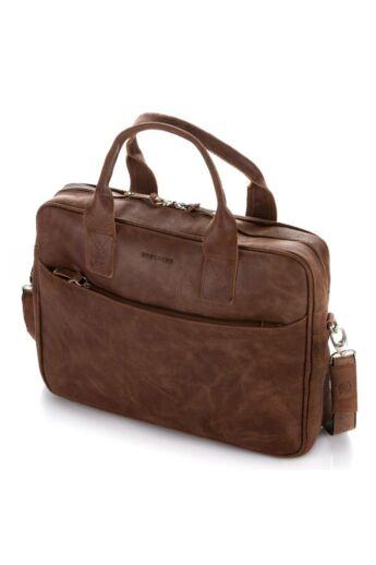 Brodrene elegáns férfi laptop táska bőrből vintage