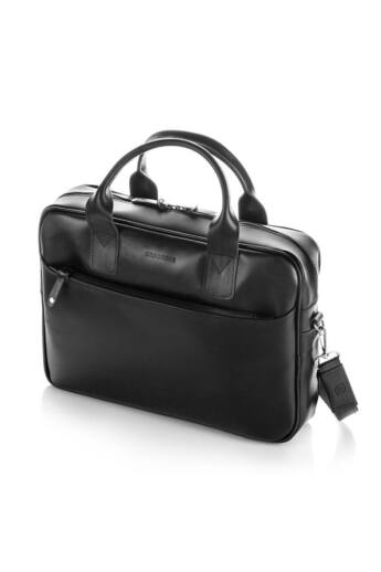 Brodrene elegáns férfi laptop táska bőrből fekete