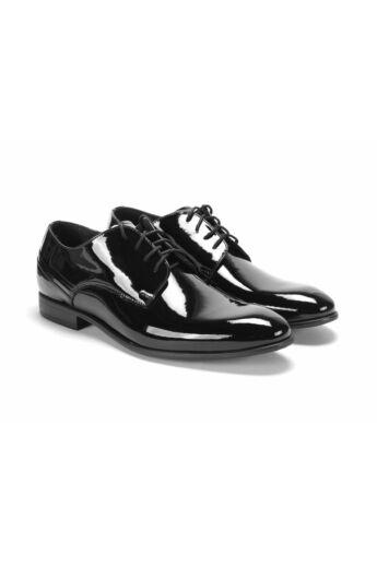 DOMENO lakozott bőr alkalmi férfi cipő, fekete, DOM1289