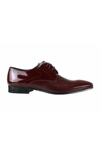 DOMENO lakozott bőr alkalmi férfi cipő, bordó, DOM396