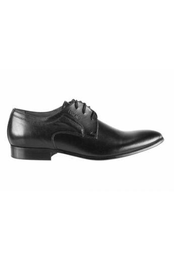DOMENO valódi bőr alkalmi férfi cipő, fekete, DOM639
