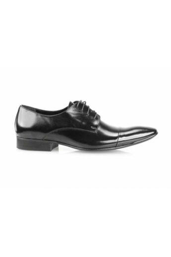 DOMENO valódi bőr alkalmi férfi cipő, fekete, DOM861