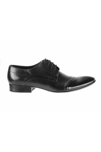 DOMENO valódi bőr alkalmi férfi cipő, fekete, DOM952