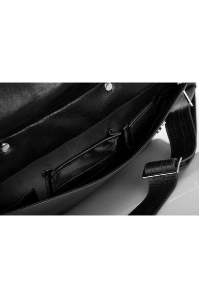 solier férfi laptoptáska bőrből SL30 fekete