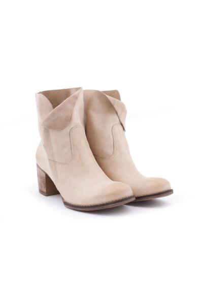 Zapato valódi bőr bézs színű női bokacsizma