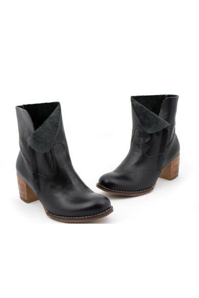 Zapato valódi bőr fekete női bokacsizma