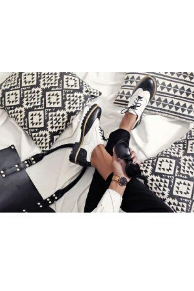 Zapato valódi bőr fekete-fehér női félcipő