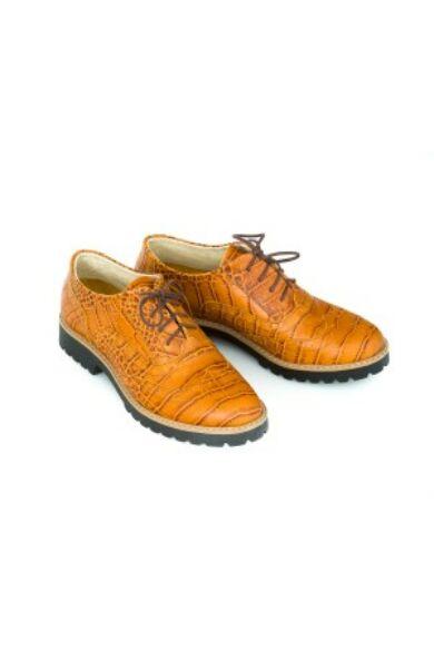 Zapato valódi bőr perzselt barna női félcipő