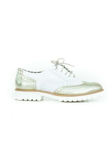 Zapato valódi bőr platina fehér női félcipő