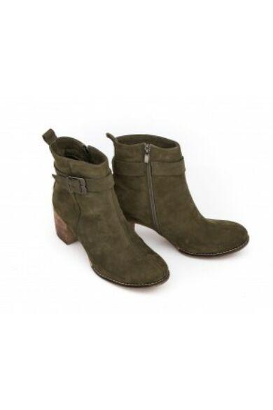 Zapato valódi bőr olíva női magas sarkú bokacsizma