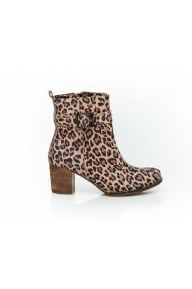 Zapato valódi bőr leopárd mintás női magas sarkú bokacsizma