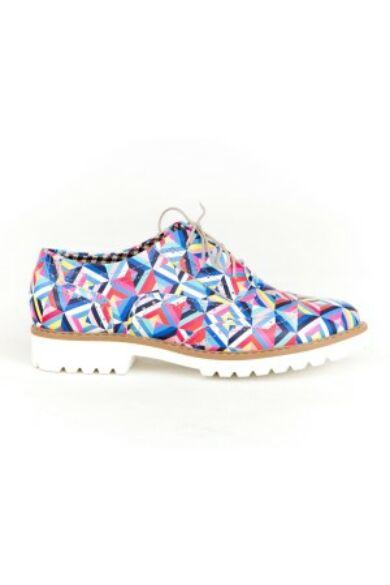 Zapato valódi bőr színes kaleidoszkóp női félcipő