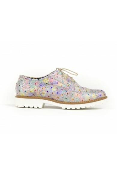 Zapato valódi bőr pávaszem mintás női félcipő