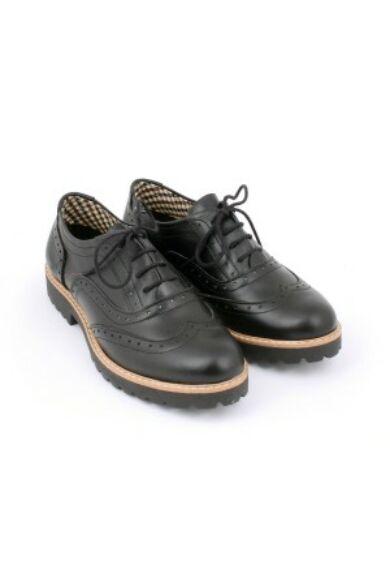 Zapato valódi bőr fekete női félcipő