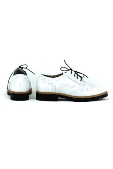 Zapato valódi bőr fehér női félcipő