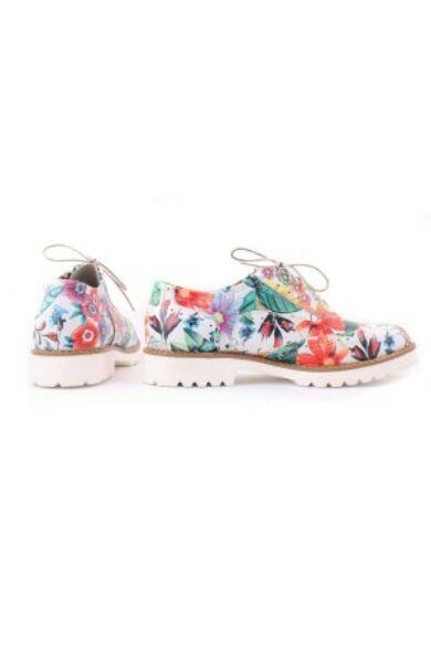 Zapato valódi bőr virág mintás női félcipő