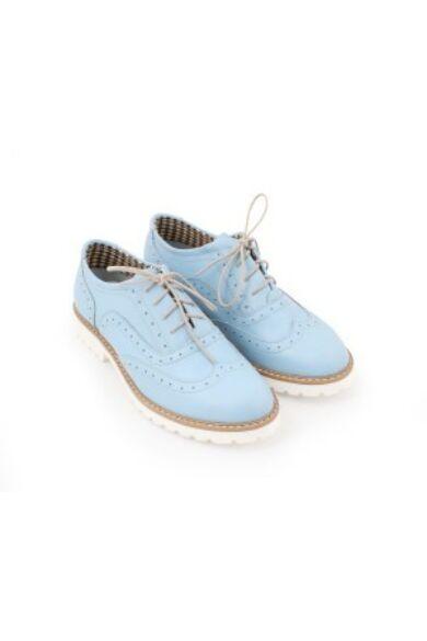 Zapato valódi bőr kék női félcipő