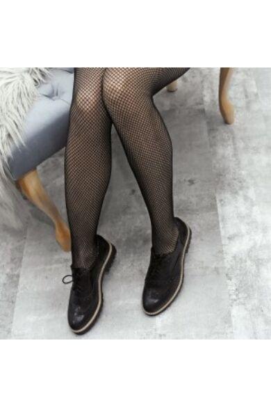 Zapato valódi bőr fényes fekete női félcipő