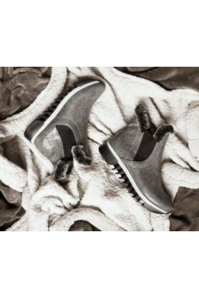 Zapato valódi bőr szürke női bokacsizma